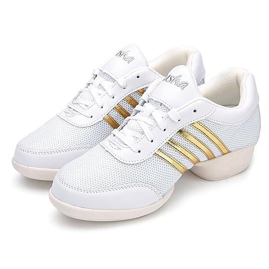 SWDZM mujeres zapatos de baile moderno hip-hop zapatos de jazz deportivo  zapatillas de deporte zapatos al aire libre ES-T08  Amazon.es  Zapatos y ... 54c50fea485