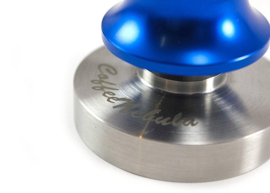 Blue 58 mm Espresso Spring Loaded Flat Tamper