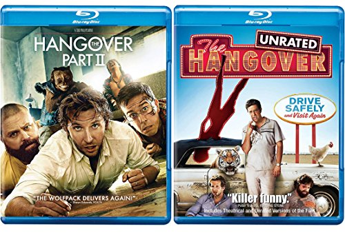 The Hangover + The Hangover sequel Part II Blu Ray Collection Comedy Set 2 Movies