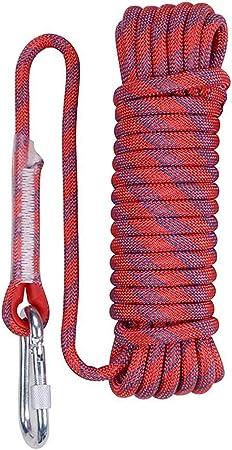 XHHWZB Cuerda de Alpinismo al Aire Libre, Black Static 16mm ...