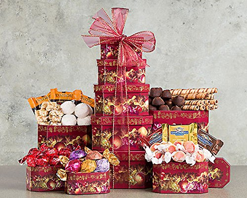 Wine Country Gift Baskets Holiday Chocolate Tower (Chocolate Lava Cake Delivery)