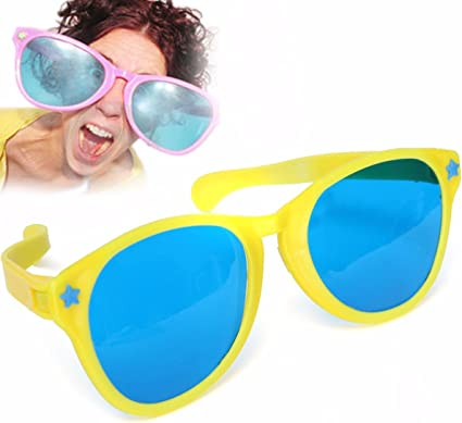 Giant Jumbo Over Clown Sunglasses Glasses Novelty Costume Accessory Purple