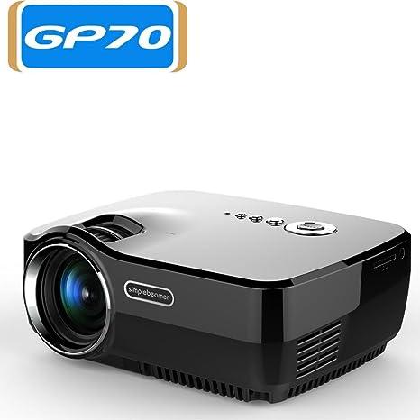 Liku técnicas GP70, Mini Proyector LED 1200 lúmenes Soporte ...