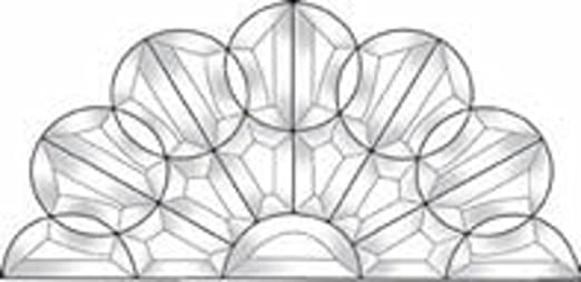Stained Glass Supplies Circles Topper Bevel Cluster EC161