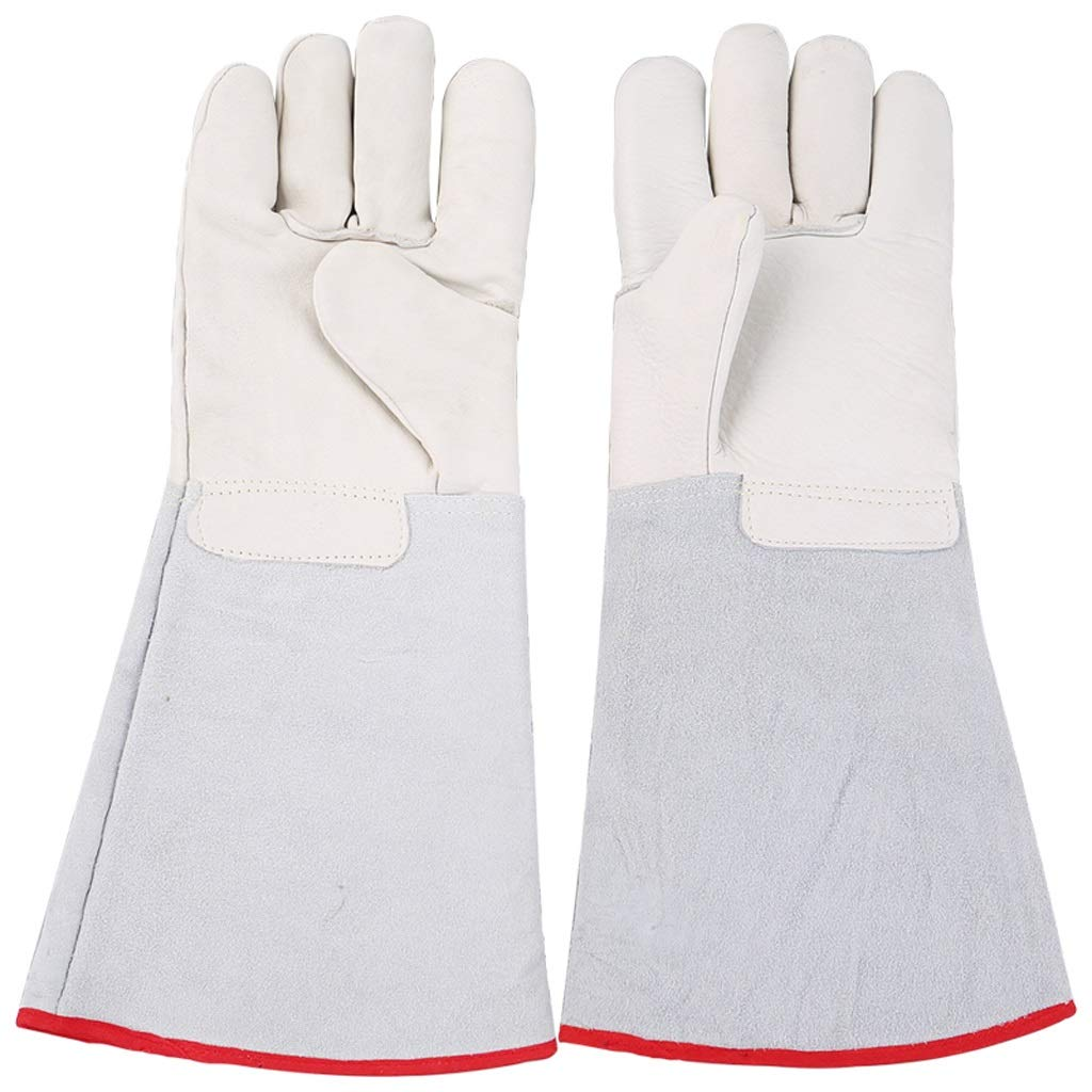 LZRZBH Long Leather Gardening Gloves - Puncture Resistant with Extra Long Forearm Protection and Welders Gloves Gloves High Temperature for Yard Work, Farm (Size : XXXL)