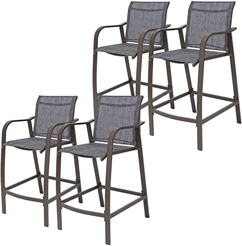 Crestlive Products Counter Height Bar Stools All Weather Patio Furniture