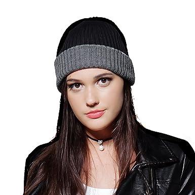 438401c1a03 Furtalk Cable Knit 100% wool Ribbed Beanie winter Skull Cap mens women Watch  Cap - Multi