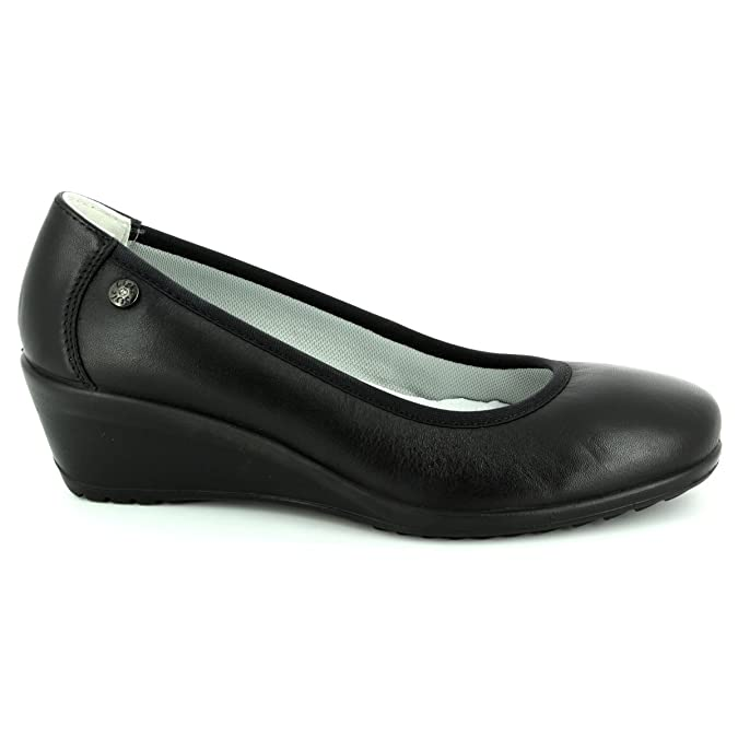 ceba47a41607 Imac 71910-1400011 Ambra Plain Black Womens Wedge Shoes  Amazon.co.uk  Shoes    Bags