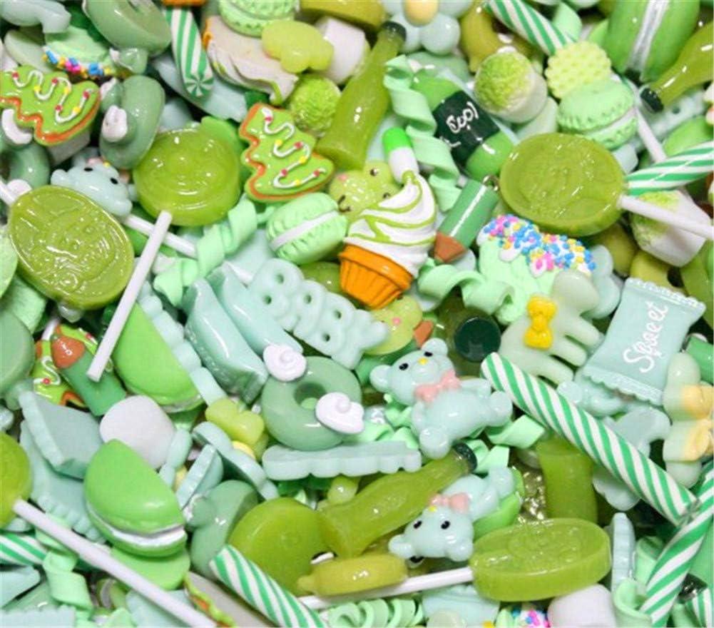Lilac 10mm-25mm 30Pcs assortiti cute Candy perline frutta dessert gelato in resina ciondoli fette Flatback bottoni per artigianato accessori scrapbooking del telefono Decor