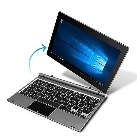 YUNTAB GA116C 2 in 1 Laptop Tablet, Windows 10,11 6 inch, 32GB Storage,  Intel Quad Core Processor, Notebook with Key Board(Dark Grey)