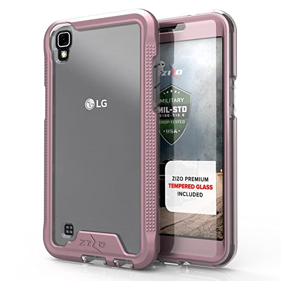 best service 2d485 b0e90 LG Tribute HD Case, Zizo [ION Series] w/ [LG Tribute HD Screen Protector]  Transparent Clear [Military Grade Tested] LG Tribute HD LS676 / LG X Style
