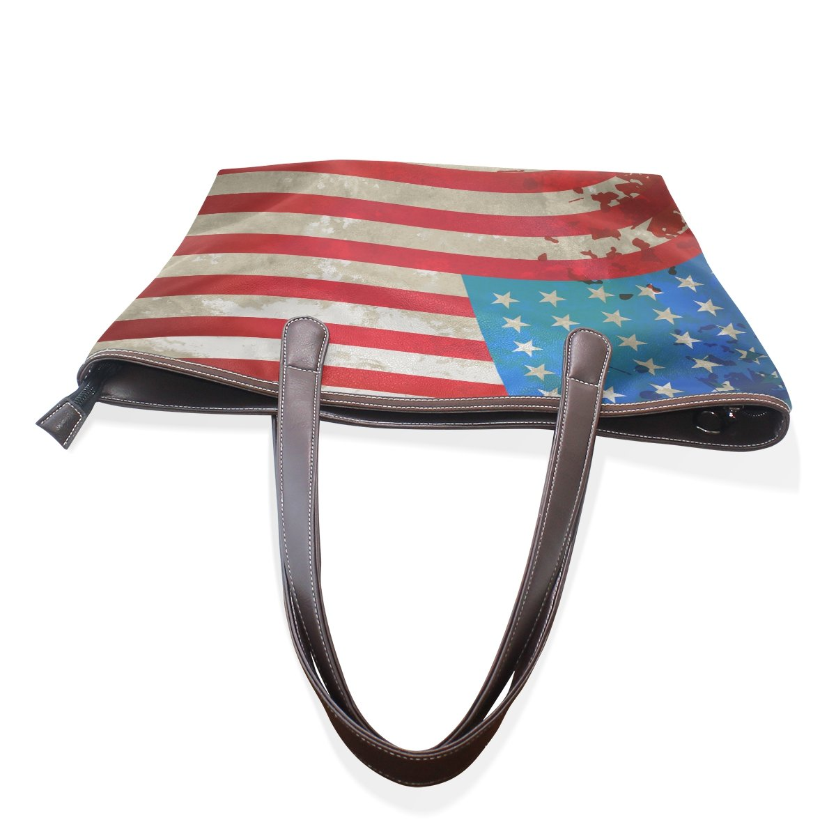 Vintage USA American Flag Womens Fashion Large Tote Shoulder Bag Ladies Handbag