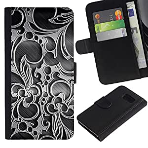 iKiki Tech / Cartera Funda Carcasa - Wallpaper Decoration Design Art Interior - Samsung Galaxy S6 SM-G920