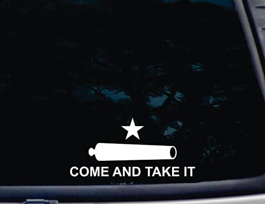 Texas Come and Take It Flag Sticker Decal 5 x 3