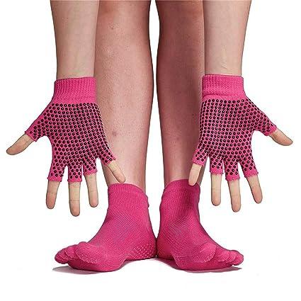 AZX 1 Set Calcetines y Guantes de Yoga, algodón ...