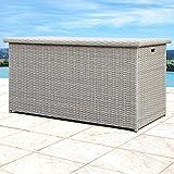 Sirio Patio Storage Box - Patio Deck Box (Grey)