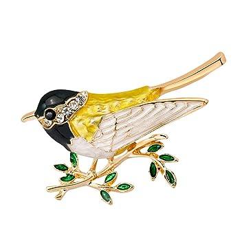 Novelty Rhinestone Bird Animal Enamel Brooch Alloy Lapel Pin Girls Jewelry Gifts