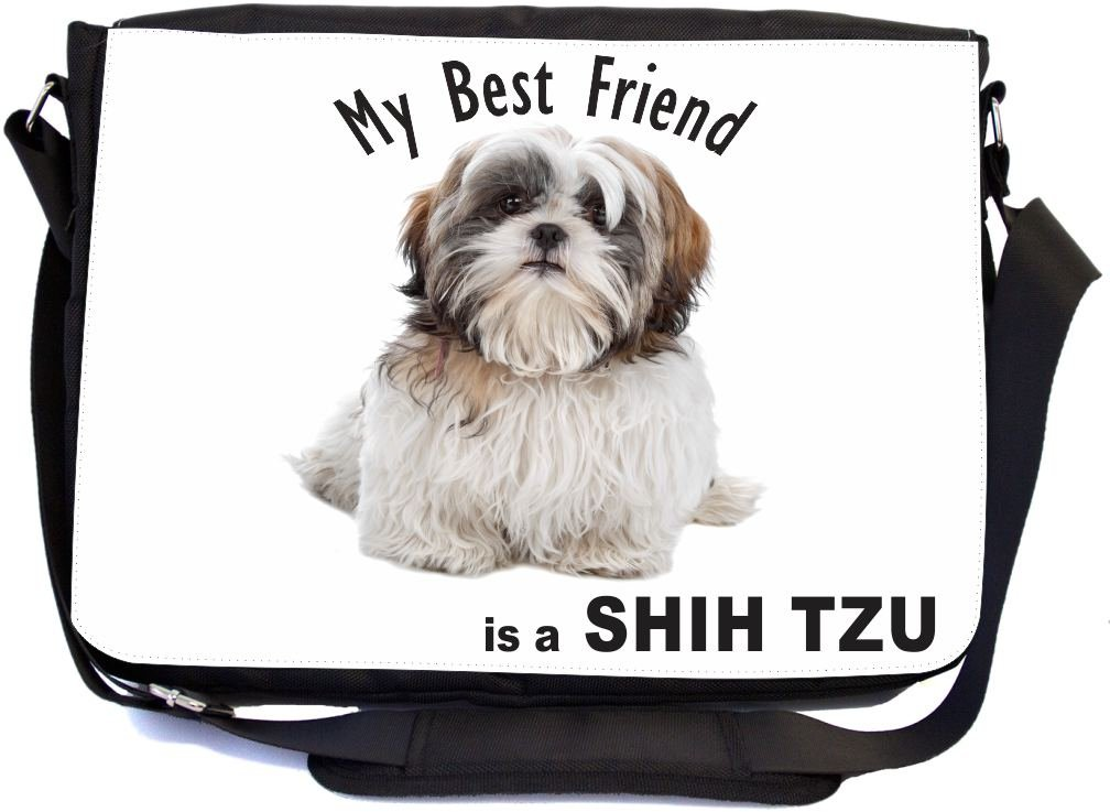 91751ddcdb78 Rikki Knight My Best Friend is a White Brown Shih Tzu Dog Design ...