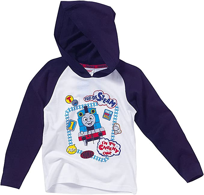 Thomas /& Friends Cheeky One Steam Hooded Long Sleeve Top