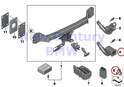 bmw genuine retrofit kit tow hitch module nas/class2 f15/f16 us x5 35dx