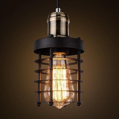 JINGUO Lighting Bright Adjustable Metal Wrought Iron Cage Single ...