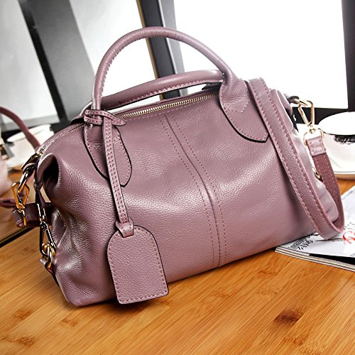 Leather Single And Pink Handbag Shoulder Boston WDBAO Fashion Donna New American Simple Da Bag European Borsa 1nza7