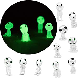 10pcs/Set Luminous Garden Ghost Miniature Figurines Set,Garden Gnome Ghost Statue With Glow In The Dark,Alien Figurines Mini,Luminous Mini Statue For Desktop Patio, Balcony,Yard,Lawn Ornaments (1 set)