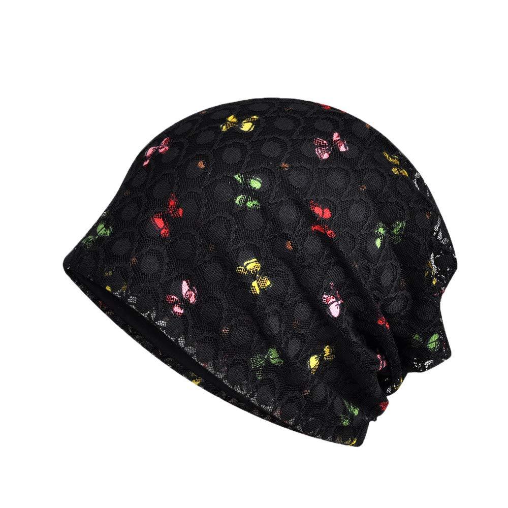 FAIRYRAIN 2 Pack Damen Baumwolle Atmungsaktiv Gestrickte Turban Hut Chem Krebs Cap Kopfbedeckung Nachtm/ütze Mutterm/ütze