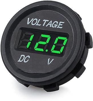 Winomo Dc 12v 24v Led Anzeige Digital Voltmeter Für Auto Motorrad Lkw Boot Marine Grün Auto