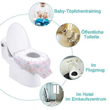 oficinas para centros comerciales hospitales resistente al agua empaquetado individualmente Funda de inodoro desechable de papel restaurantes 10 unidades
