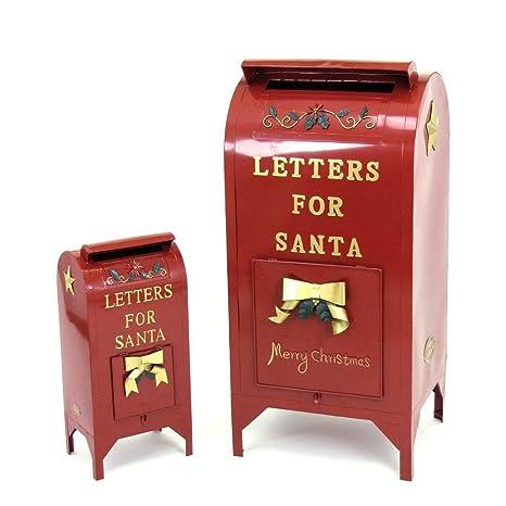 Buzón de cartas para Papá Noel Navidad decoración juego de 3 ...