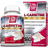 BRI L-Carnitine – 180 Tables 1000mg per Serving Premium Quality Carnitine Amino Acid Natural Fat Burner Supports Athletic Performance, Stamina and Heart Health; Stimulant Free Veggie Capsules