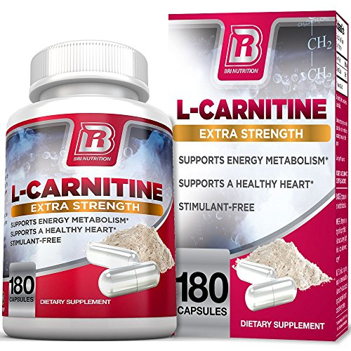 (BRI L-Carnitine - 180 Tables 1000mg per Serving Premium Quality Carnitine Amino Acid Natural Fat Burner Supports Athletic Performance, Stamina and Heart Health; Stimulant Free Veggie Capsules )