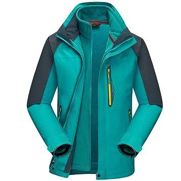 Jiyaru Chaqueta de Montaña Impermeable para Hombre Mujer Chaqueta de esquí Polar a Prueba de Viento con Varios Bolsillos al Aire Libre: Amazon.es: Deportes ...