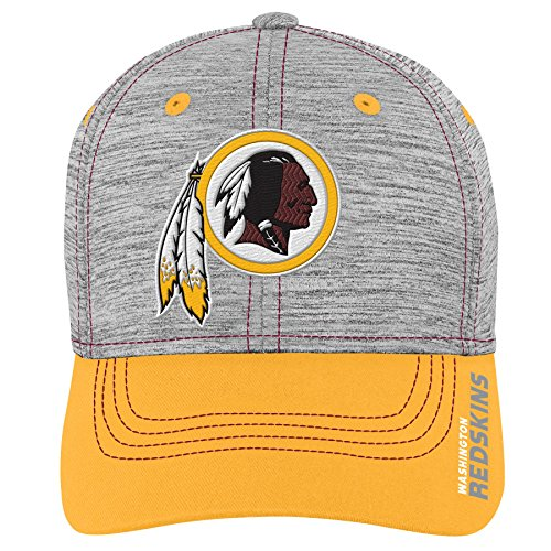 NFL by Outerstuff NFL Washington Redskins Youth Boys Velocity Structured Flex Hat Heather Grey, Youth One Size