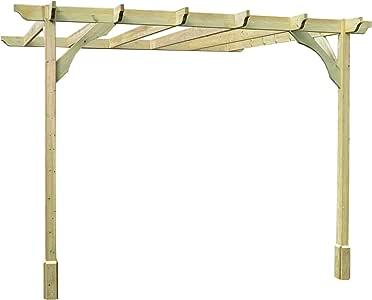 Rutland County Muebles de jardín Premium Lean To Pérgola - 5 Hecho a Mano en Reino Unido: Amazon.es: Jardín