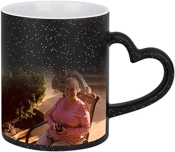 Whitelf Heat Sensitive Color Changing Coffee Cup Cthulhu Mug Ceramic Magic Cup