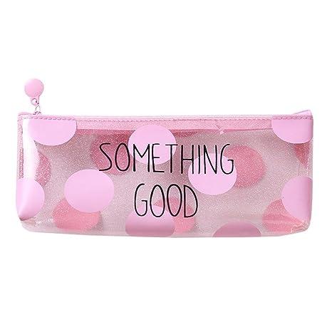 b935b4a86 Estuche Escolar Barato, 🍀 Zolimx Rosa Transparente Lápiz Caso Cosmético  Bolsa Maquillaje Bolsas Lápices