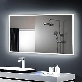 Anten® led Badspiegel mit licht 25W kaltweiß 6500k Design Spiegel ...