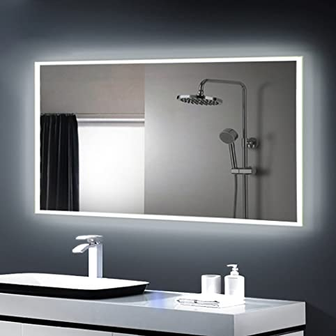 Emejing miroir salle de bain lumiere integree contemporary for Lumiere salle de bain design