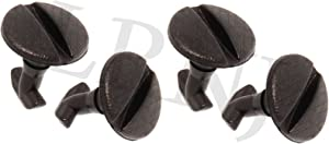 BRITPART REAR BUMPER TOW EYE COVER FASTENER CLIP X4 COMPATIBLE WITH LAND ROVER RANGE ROVER SPORT 2006-2009 PART # DYR500010