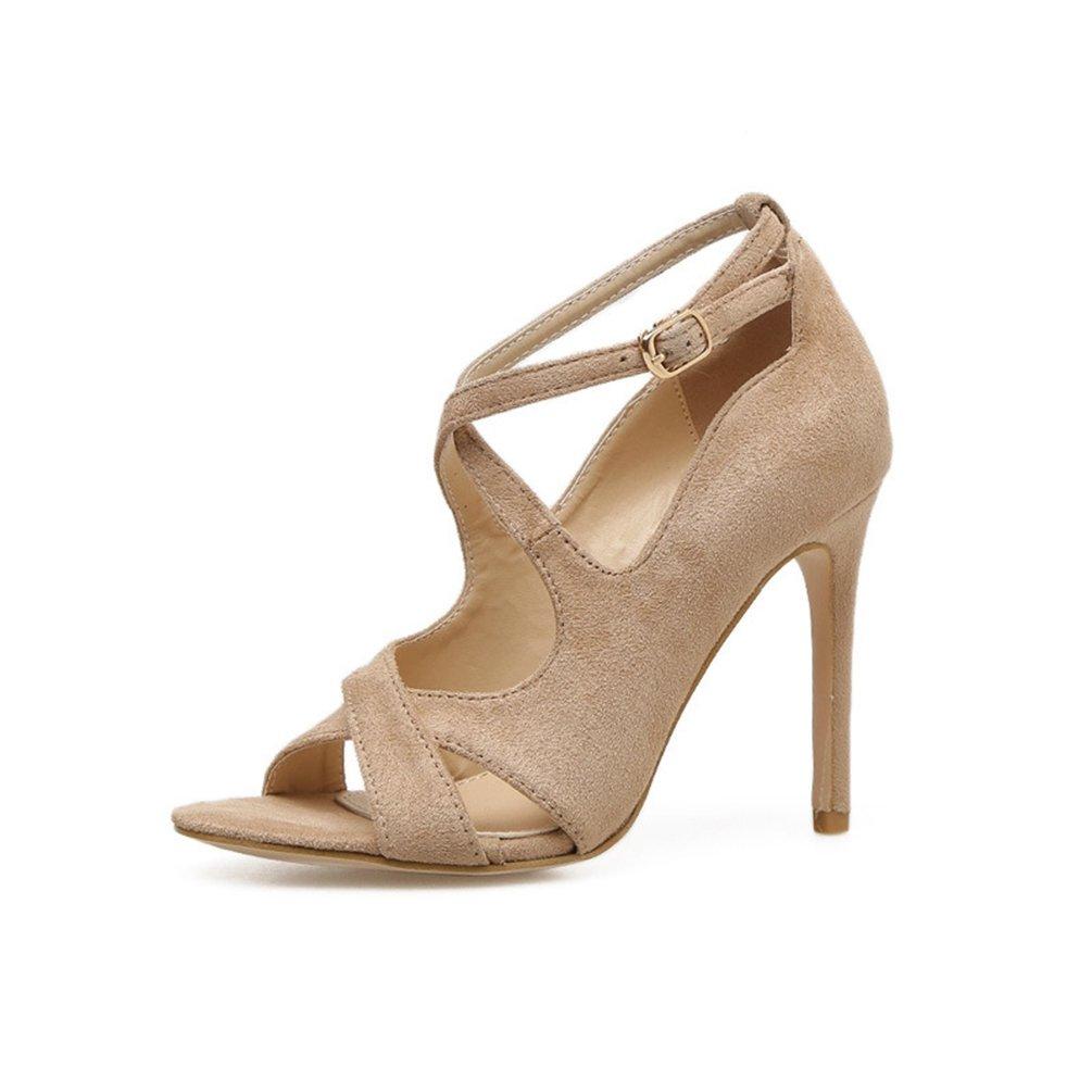 Inconnu Escaepins Talons Hauts Aiguille Ouvert Talons Chaussures 19049 Lanières Élégant Aiguille Stiletto Sandales Femmes Beige 63401d3 - reprogrammed.space