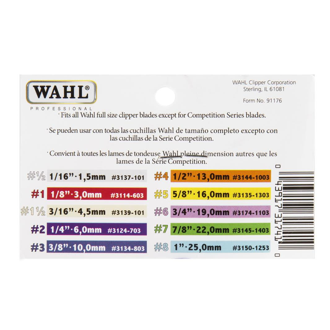 Amazon Wahl Professional Color Coded Comb Attachment 3137 101