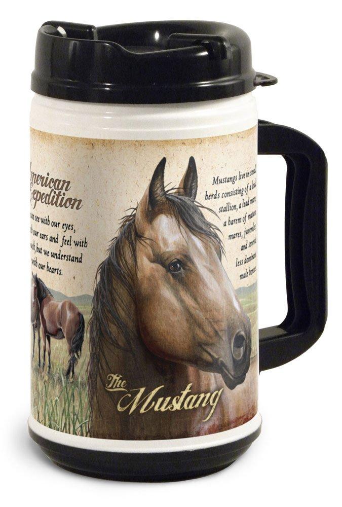 32 oz Wildlife Mustang American Expedition TM32-110 Thermal Mug Multi-Color