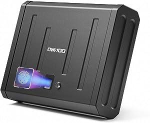 OWSOO Gun Safe for Pistols, Pistol Safe Handgun Safe Quick-Access with Biometric Fingerprint or Key Lock, Security Firearm Safe for Home