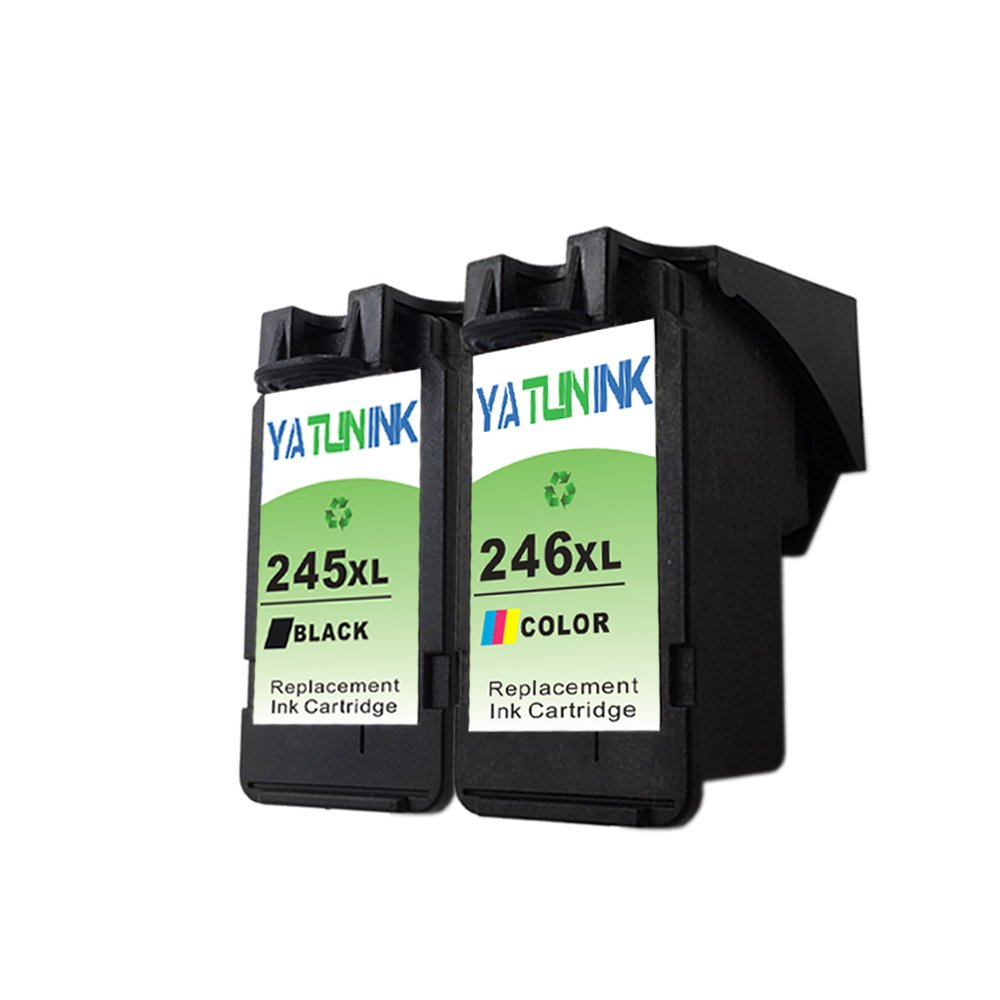 YATUNINK 2 Pack PG-245XL CL-246XL Remanufactured Ink Cartridge Compatible With Canon MG2420 MG2520 MG2920 MG2922 MG2924 MX490 MX492 iP2820