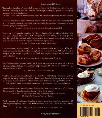Baking in america traditional and contemporary favorites from the baking in america traditional and contemporary favorites from the past 200 years greg patent 9780618048311 amazon books forumfinder Gallery