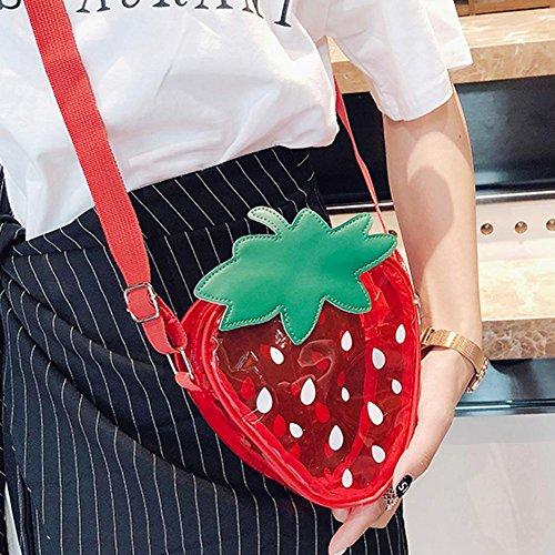 PVC Purse Women Bags Satchel Strawberry Girls Widewing Shoulder Mini Bags Messenger 78R7dq