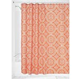 Black Toile Shower Curtain InterDesign Medallion Fabric Shower Curtain, 72 x 72, Sunburst