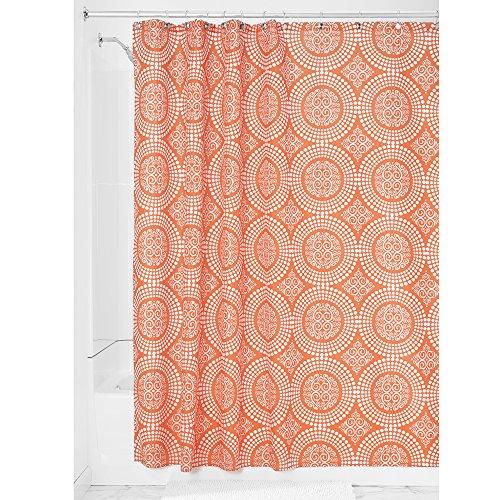InterDesign Medallion Fabric Shower Curtain, 72 x 72, Sunburst